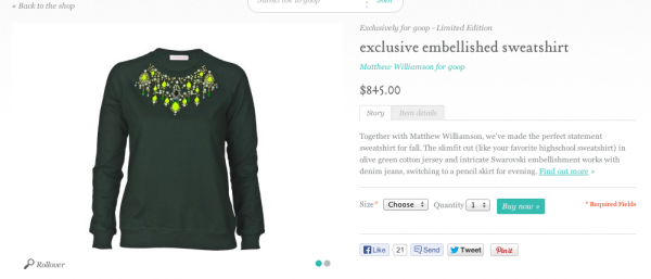 If you vomit on this sweatshirt, no one will know.