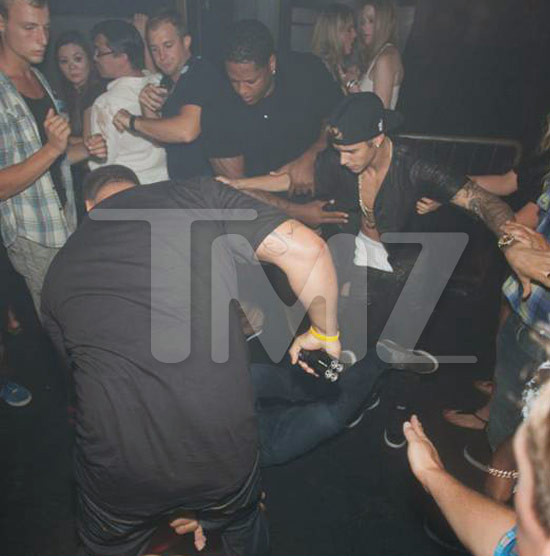 God may save the queen, but Justin Bieber's bodyguards have to save him