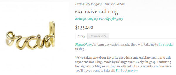 "Stop trying to make ""rad"" happen, Gwyneth"